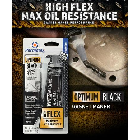 Black Rtv Silicone - Permatex Optimum Black RTV Silicone Gasket Maker 3.35 oz, 1 Pack - 27037