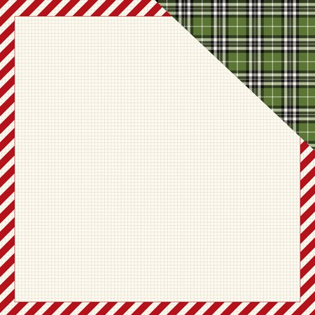 Christmas Delivery Double Sided Cardstock 12x12 Striped Frame