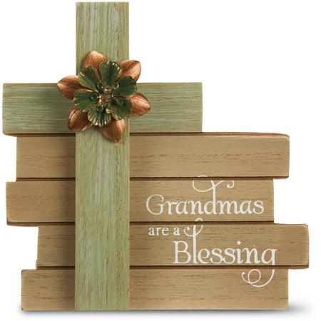 Pavilion - Grandmas are a Blessing Cross Plaque 6 Inch ()