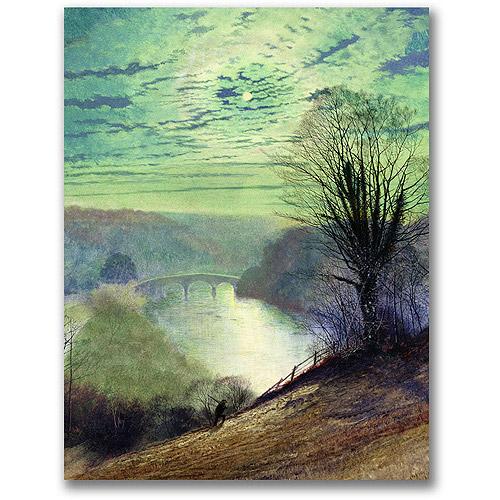 "Trademark Fine Art ""On The Tees, Near Barnard Castle"" Canvas Wall Art by John Atkinson Grimshaw"