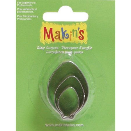 Makin's USA Clay Cutters, Bulb Ornament, 3 Per Package, Creative and easy to use ways to create the perfectly cut shapes By Makins USA ()