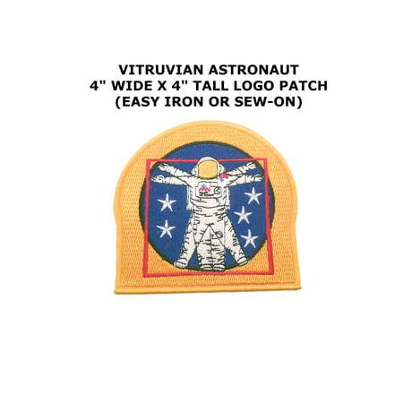 NASA The Vitruvian Astronaut Vector Embroidered Iron/Sew-on Comics Theme Logo Patch/Applique - Vector Costume