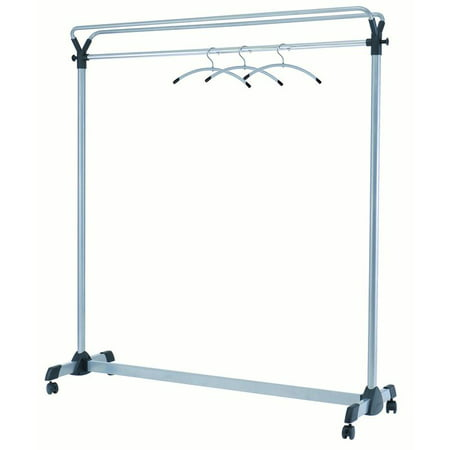 ALBA - Group Large capacity mobile garment rack - 3 hangers included