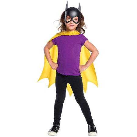DC Comics Batgirl Cape & Mask Child Costume Set - Yellow Cape