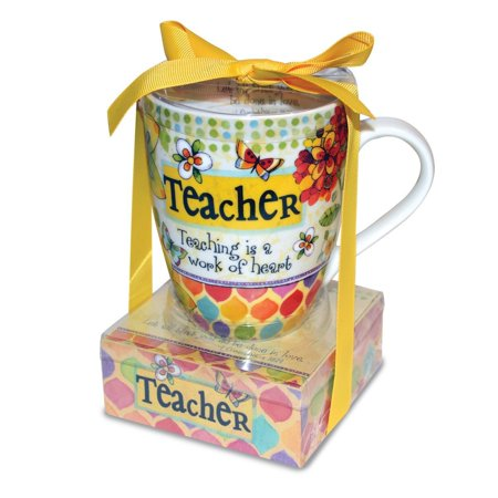 23780 Ceramic Mug and Memo Pad Teacher, Multicolor, Cute & functional gifts for the Extra special people in your life By Divinity Boutique From USA - Halloween Sayings For Teacher Gifts
