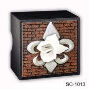 Caravelle Designs SC-1013 Fleur de Lis Tissue Box Cover in Brick