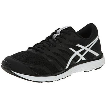 ASICS Women's Gel Zaraca 4 Running Shoe, BlackWhiteSilver, 8 M US