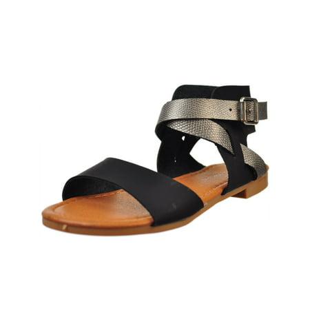 8826995296 Eddie Marc Kids Girls' Sandals (Sizes 11 - 4) - Walmart.com