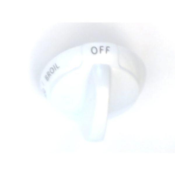 WB03K10011 GE Knob-Thermostat (White) Genuine OEM WB03K10011
