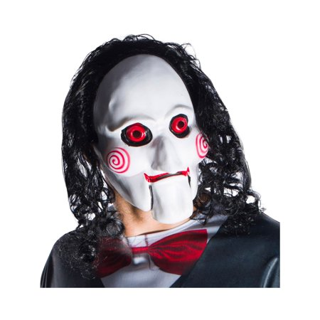 Jigsaw (Saw 8) Billy Adult Mask With Hair Halloween Costume Accessory - Jigsaw Halloween Makeup Ideas