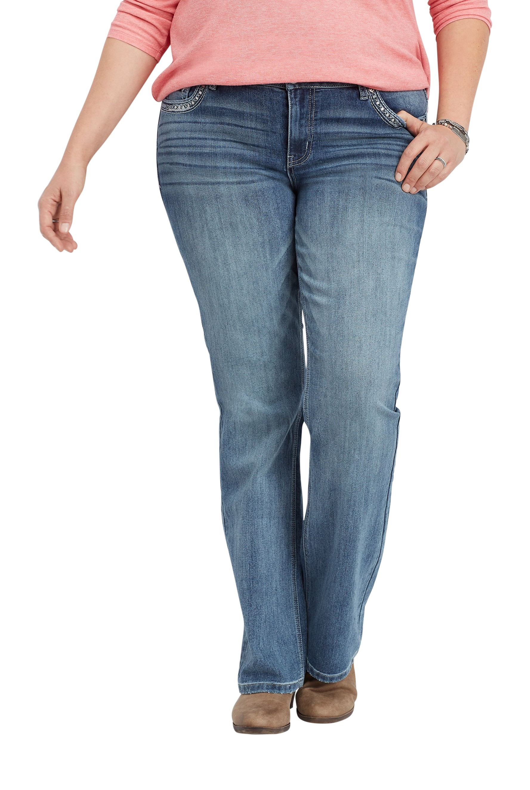 Maurices Women's Slim Boot Jean - Plus Size Embellished Back Pocket