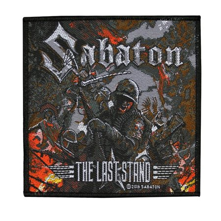 Sabaton The Last Stand Patch Cover Art Heavy Metal Band Woven Sew On