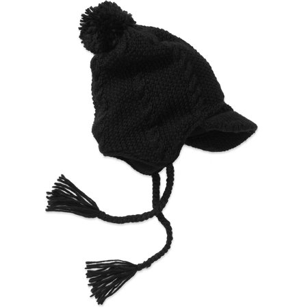 fa281655aa7 ONLINE - Women s Cable Knit Visor Hat With Pom Po - Walmart.com