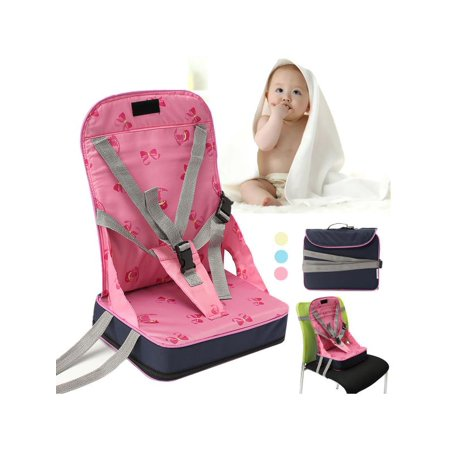 Foldable Baby Kids High Chair Dining Feeding Chair Booster Seat With Harness Safety Travel Dine Out Folding For Toddler Infant - Infant Feeding Table
