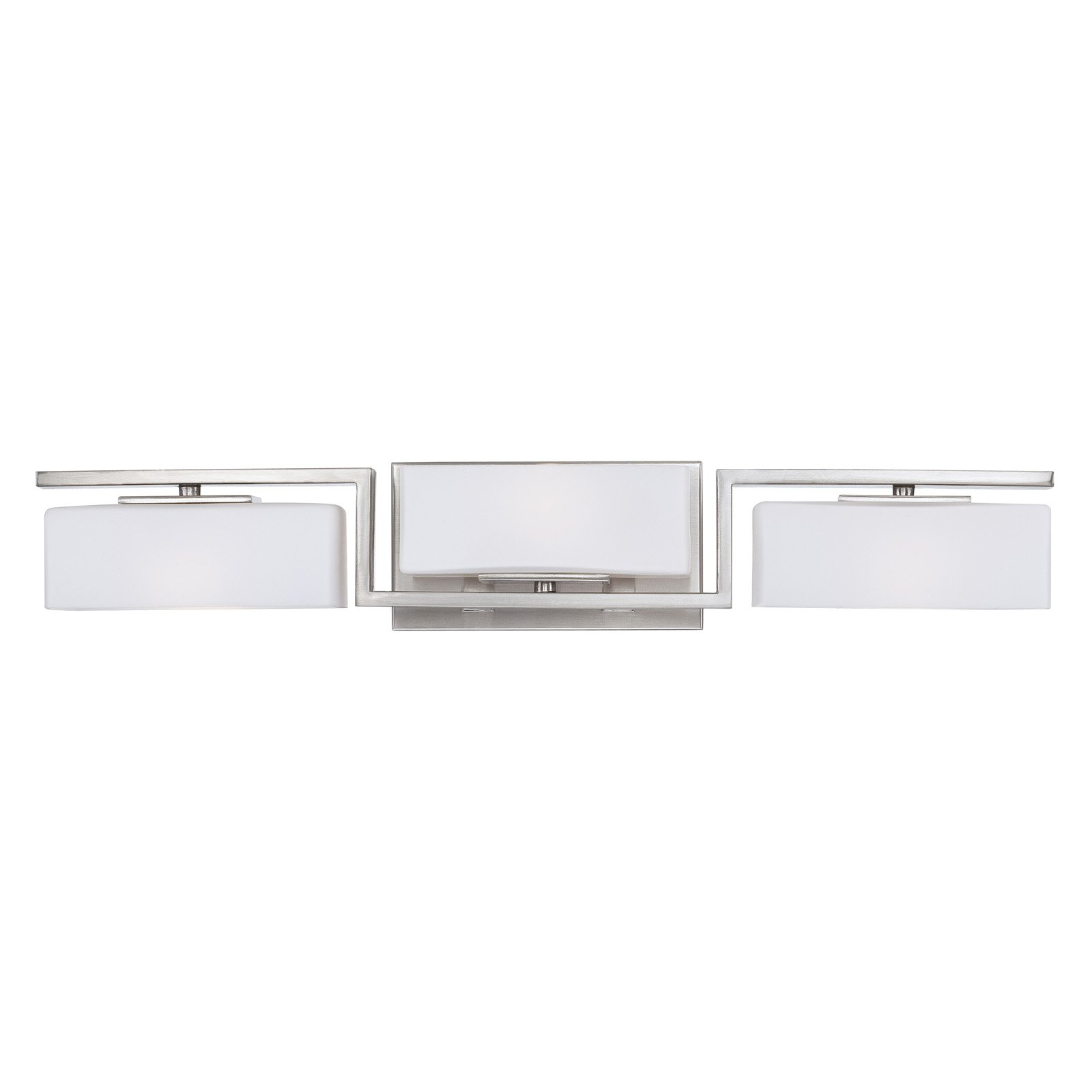 Designers Fountain Meridian 6713 3-Light Bath Bar - Satin Platinum