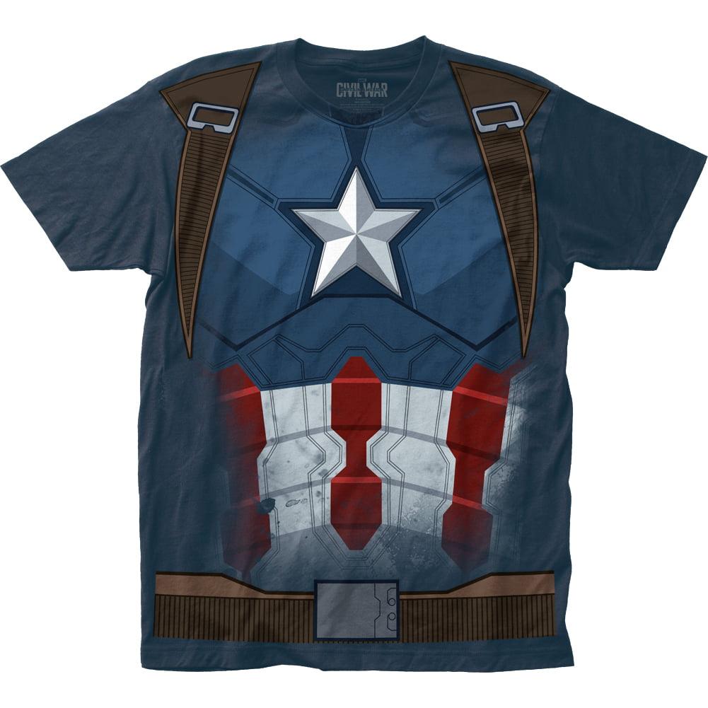 Captain America: Civil War Captain Cw Suit Adult Big Print Subway T-Shirt Tee