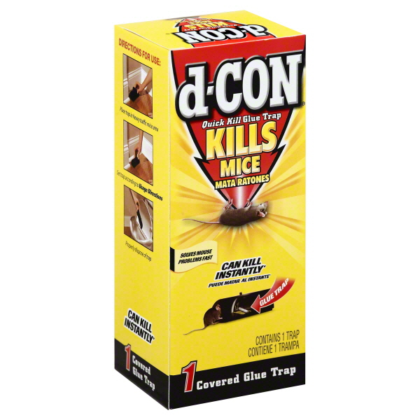 d-CON Rodenticide Quick Kill Mouse Glue Trap, 1 Count