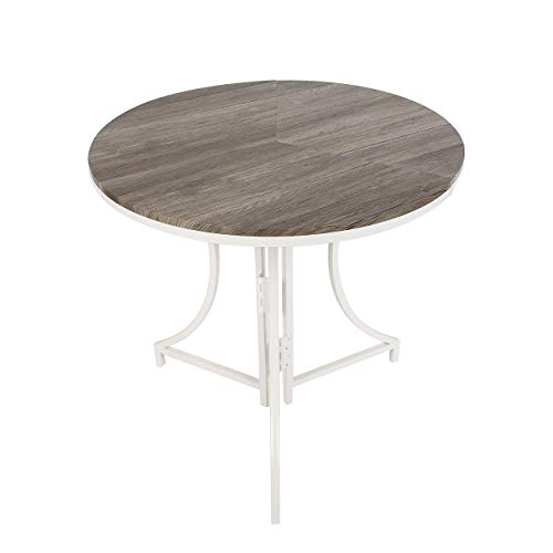 SpaceMaster Folding Bistro Table In White