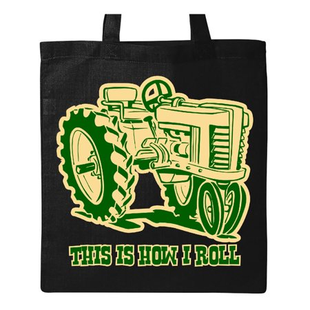 This Is How I Roll Tractor GRN Tote Bag (Roll Tote Bags)