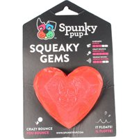 SPUNKY PUP HEART SQUEAKER DOG TOY - 1981