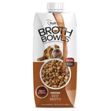 Fruitables Broth Bowls Beef Dog Supplement Tub, 16.9 Oz