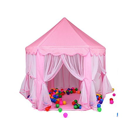 Princess Castle Play Tent House For Girls Indoor Outdoor Toy 56 x 54 inches - Princess Castles For Girls