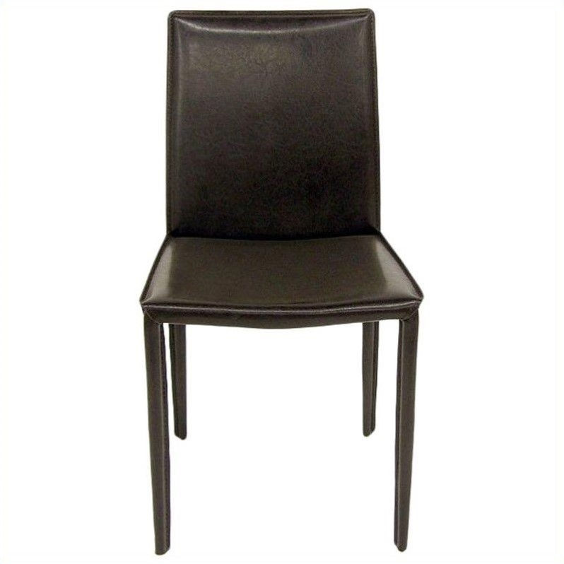 AEON Furniture Aimee Stacking Dining Chair in Black (Set of 4)