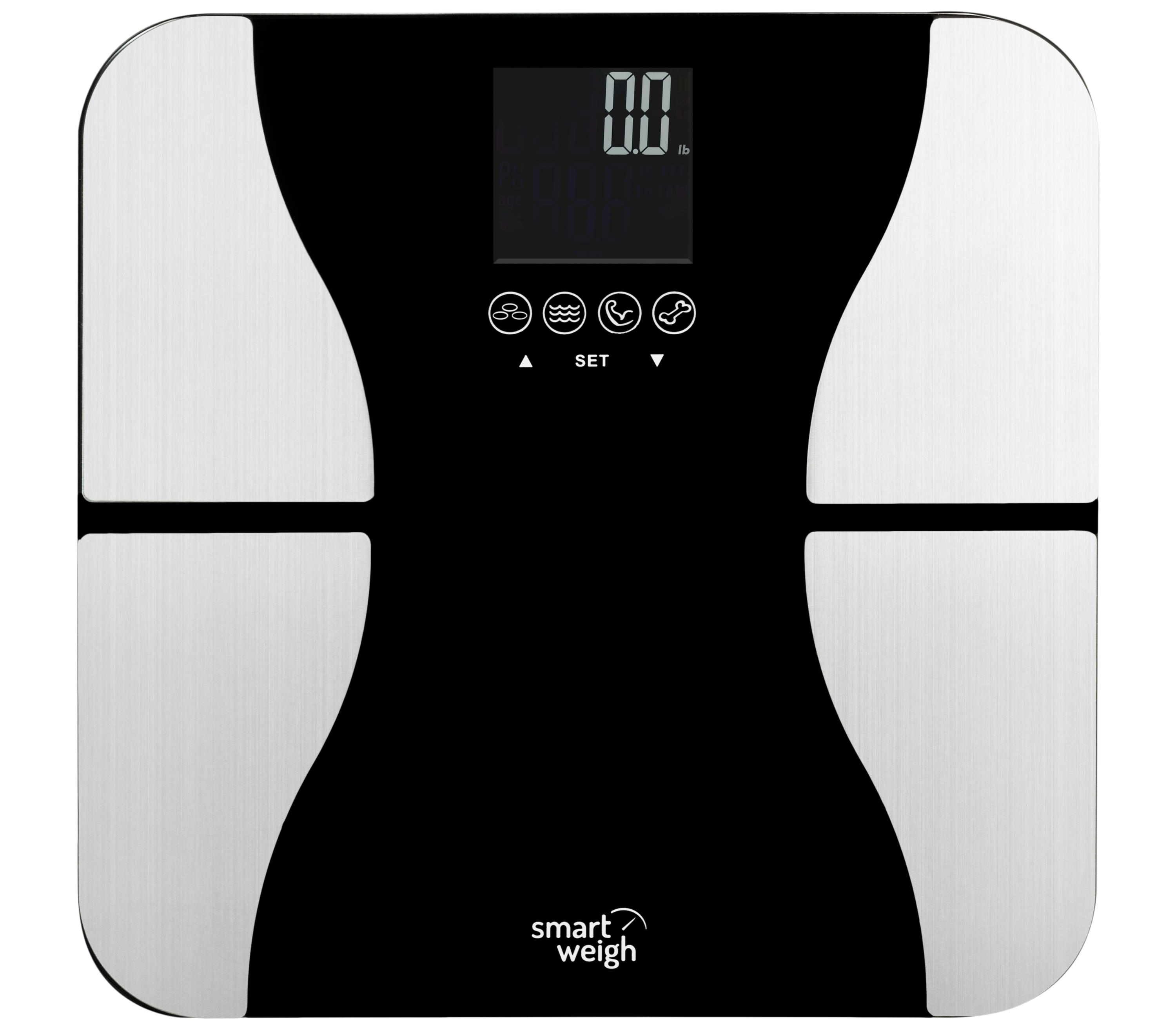Smart Weigh 440lbs Bmi Bathroom Digital Weight Scale Lcd Tempered Glass Com