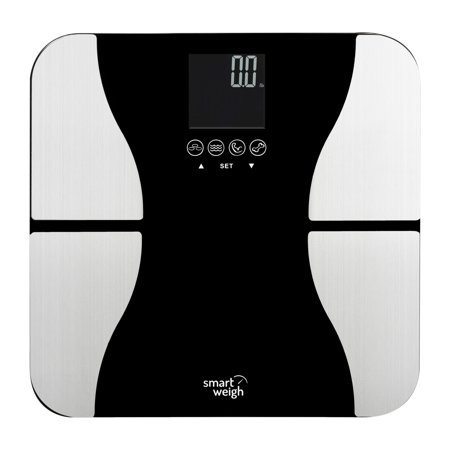 Smart Weigh 440Lbs Bmi Bathroom Digital Body Weight Scale Lcd Tempered Glass