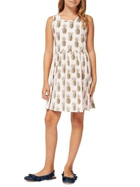 Girl's Printed A-Line Dress