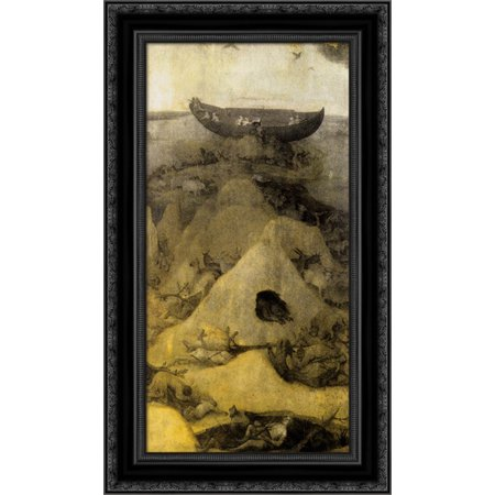 - Noah's Ark on Mount Ararat (obverse) 17x24 Black Ornate Wood Framed Canvas Art by Bosch, Hieronymus