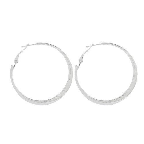 Sunstone Clutchless Hoops Wide Bottom Clutchless Hoop Earring