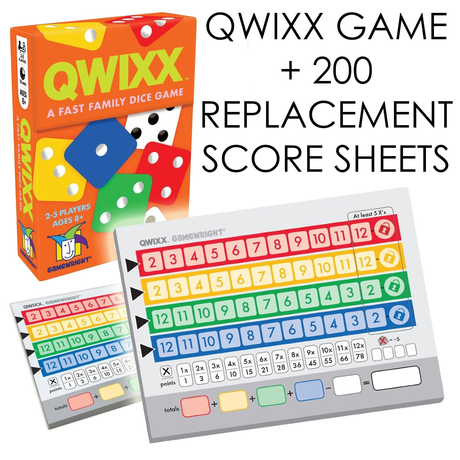 Replacement Score Cards Action Game Qwixx