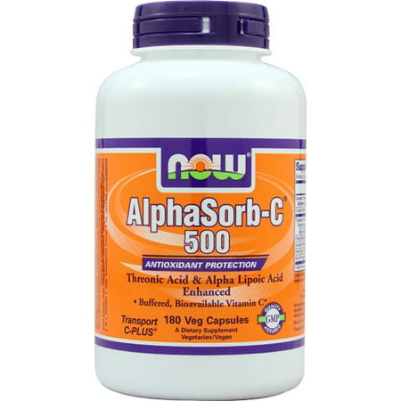 NOW aliments végétariens AlphaSorb-C 500 Protection Antioxydant, 180 Ct
