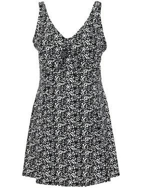c696f84e747 Product Image Bawdy Women s Plus Size Hibiscus Flower Swim Dress