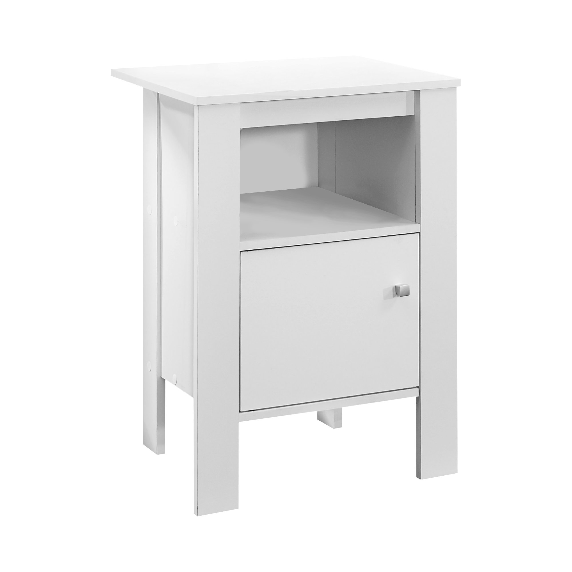 ACCENT TABLE CAPPUCCINO NIGHT STAND WITH STORAGE by Monarch Specialties