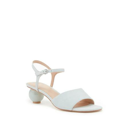 Pour La Victoire Dora Leather Sphere Heel Sandal, Pale Sage (5.5)