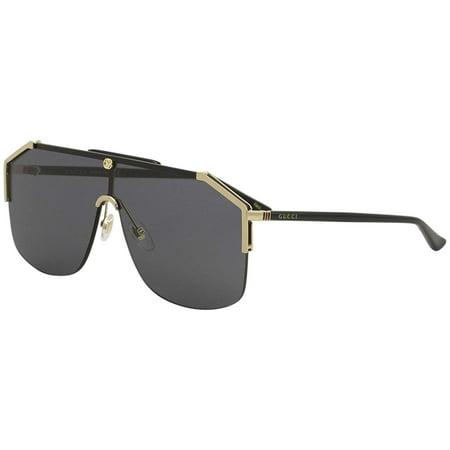 Gucci GG0291S Mens Metal Shield Sunglasses