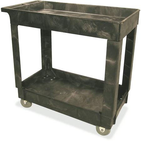 - Rubbermaid Commercial, RCP9T6600BLA, 9T6600 Heavy-Duty Utility Cart, 1 Each, Black