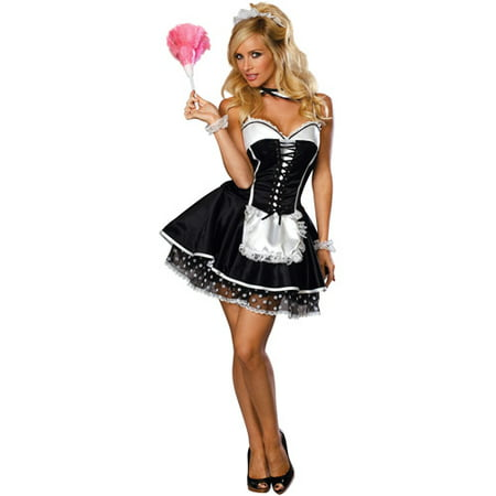 Flirty Maid Adult Halloween Costume (French Maid Costume Halloween)