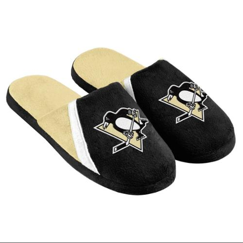 Pittsburgh Penguins NHL Swoop Logo Slide Slippers