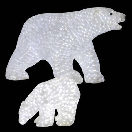 49 outdoor pre lit commercial grade male polar bear christmas display decoration - Pre Lit Polar Bear Christmas Decoration Set Of 3