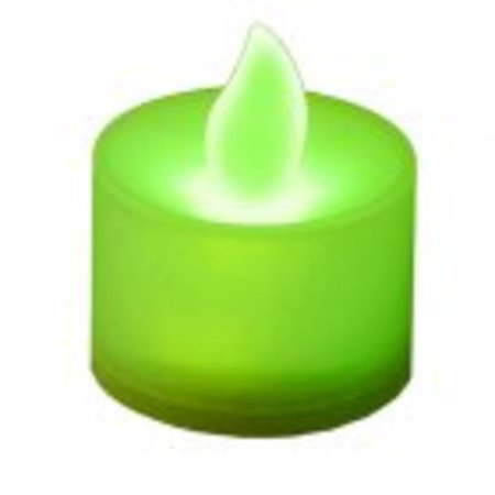 Club Pack Of 12 Led Lighted Battery Operated Green Tea Light Candles
