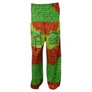 Mogul Women's Harem Pants Green Mandala Yoga Casual Long Trousers
