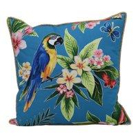 """Better Homes & Gardens 19"""" x 19"""" Outdoor Toss Pillow, Parrot Turquoise"""