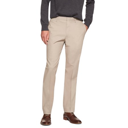New  5840-2 Banana Republic Mens Khaki Beige Non Iron Slim Fit Dress Pants 38W x - Banana Republic Dress Pants