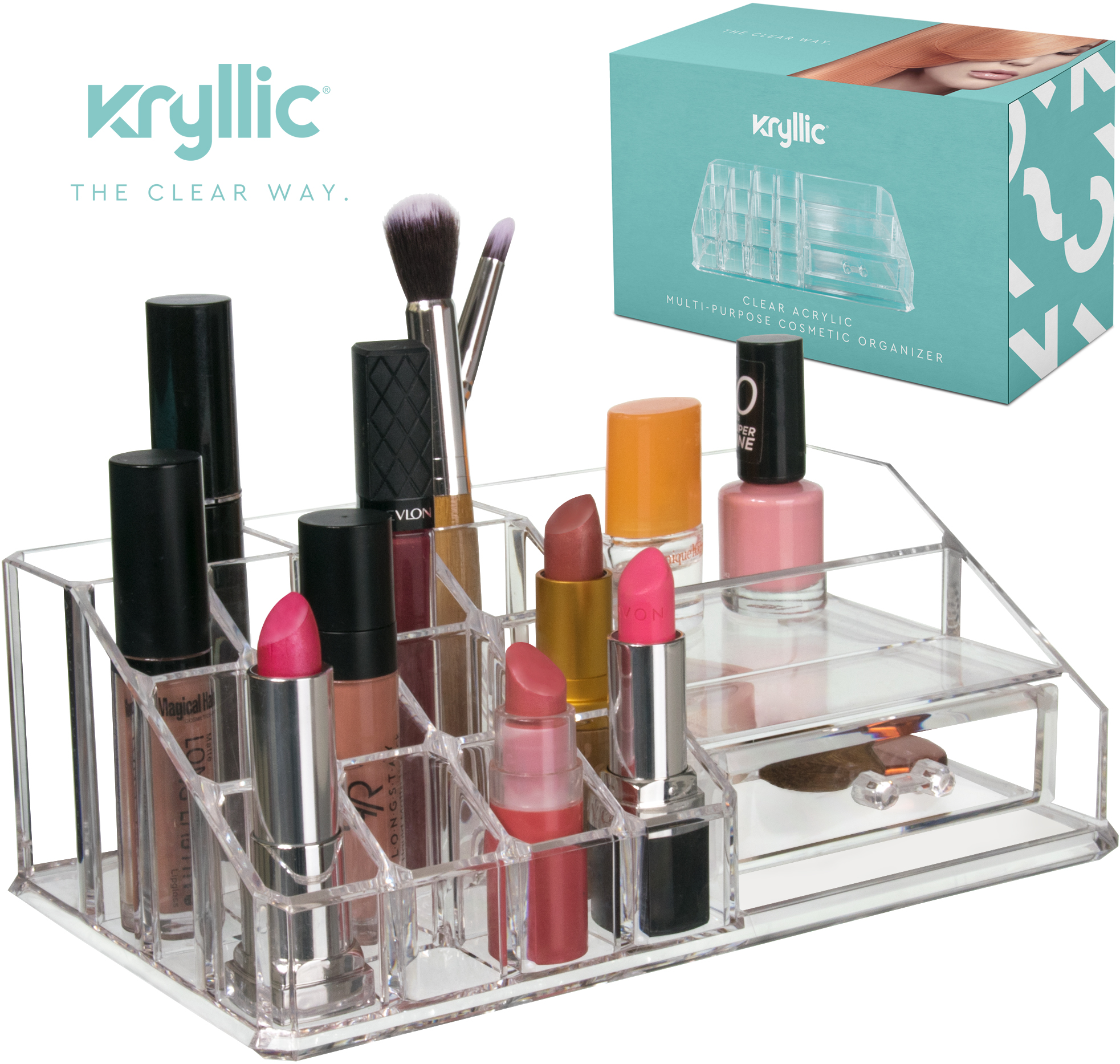 Acrylic Makeup Cosmetic Lipstick Organizer  Clear Lip Stick Storage