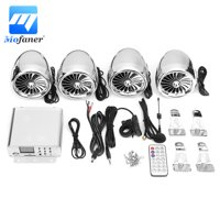 1000W Full R ange b luetooth Waterproof Motorcycle Speaker Amplifier System Stereo Support USB/SD/AUX/FM Radio Input Remote Control For 12V ATVS/Motorcycle