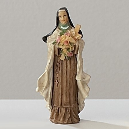Saint Therese with Flowers Patrons and Protectors Religious Figurine 50273 Roman - Religious Novelties