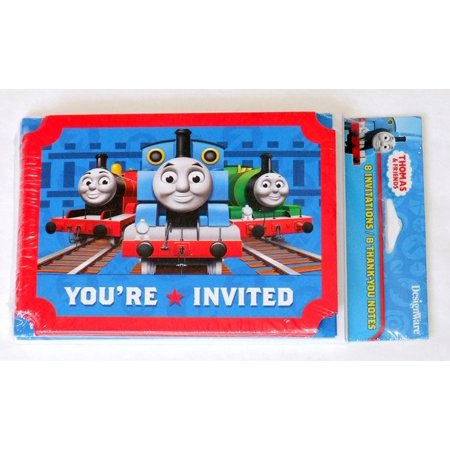 Thomas & Friends Invitations and Thank You Postcards, 8 per pack By Designware](Thomas And Friends Invitations)